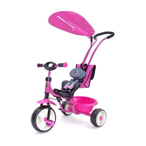 Dětská tříkolka Milly Mally Boby Delux RING růžová