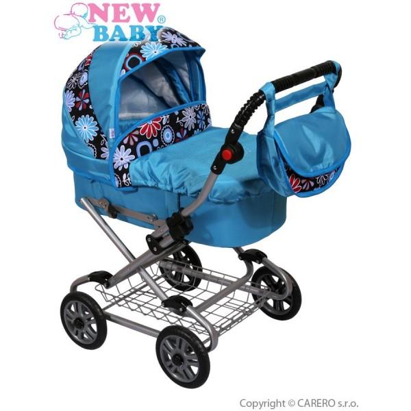 Dětský kočárek pro panenky New Baby modrý