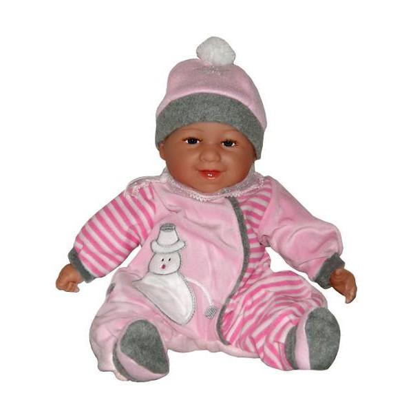 Mluvící a zpívající dětská panenka Baby Girl sněhuláček