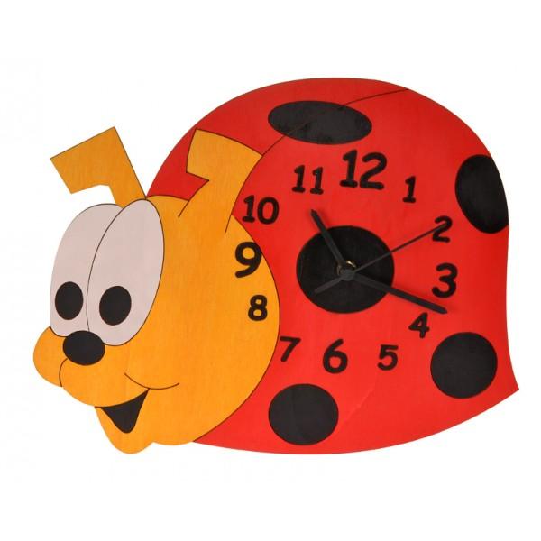 Dětské dřevěné hodiny- Beruška