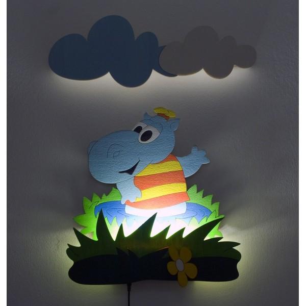 Dětská LED lampička - Hrošík