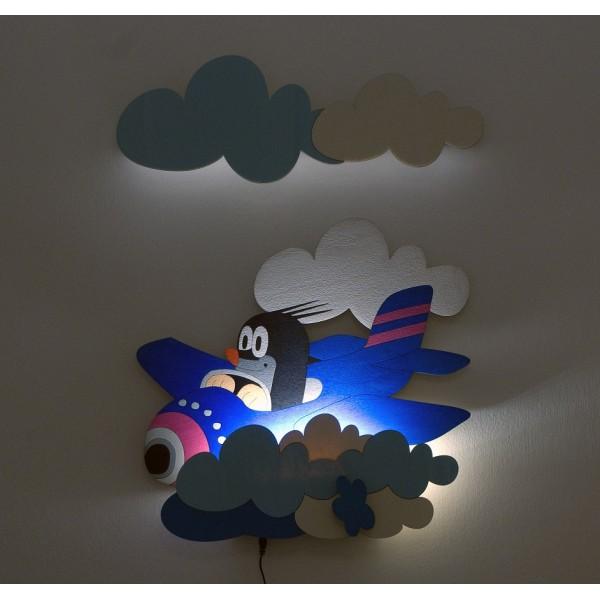Dětská LED lampička - Krtek v letadle