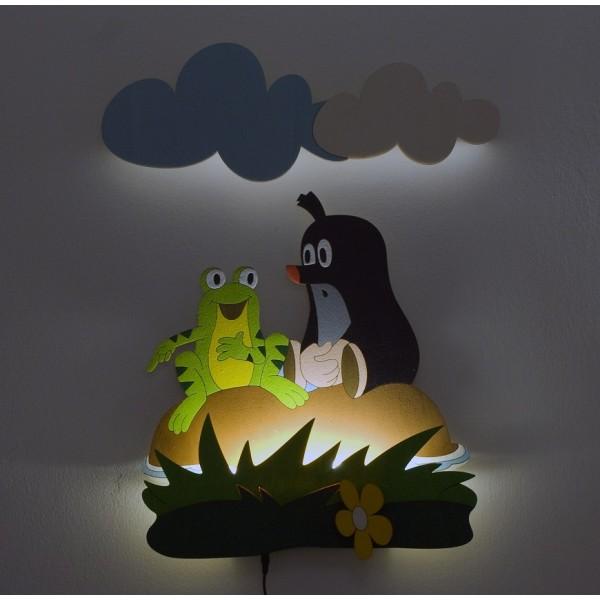 Dětská LED lampička- Krtek a žabka