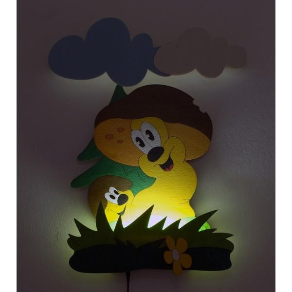 Dětská LED lampička- Hříbci