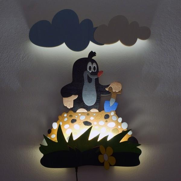 Dětská LED lampička - Krtek na hromádce