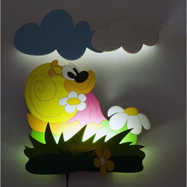 Dětská LED lampička - Šneková
