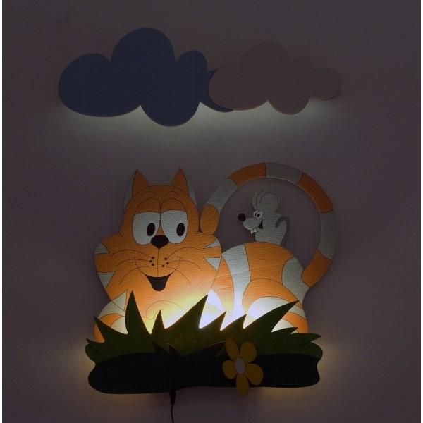 Dětská LED lampička - Kočka