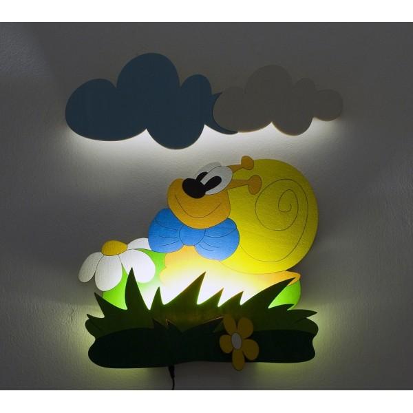 Dětská LED lampička - Šnek