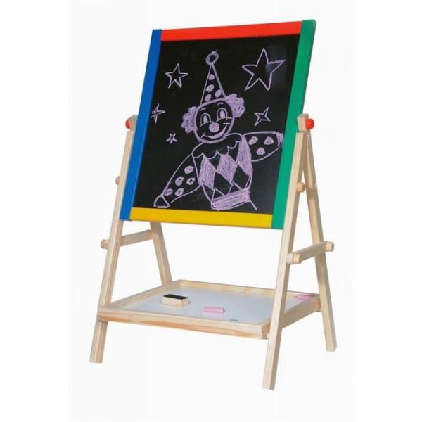 Dětská tabule-natur rám s poličkou, 65cm