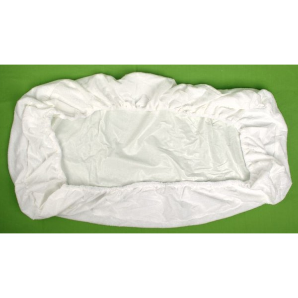 Nepropustné froté prostěradlo bílé 80 x 200 cm Kaarsgaren