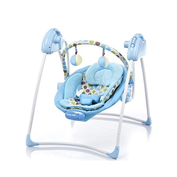 Dětské lehátko s houpátkem Baby Mix blue