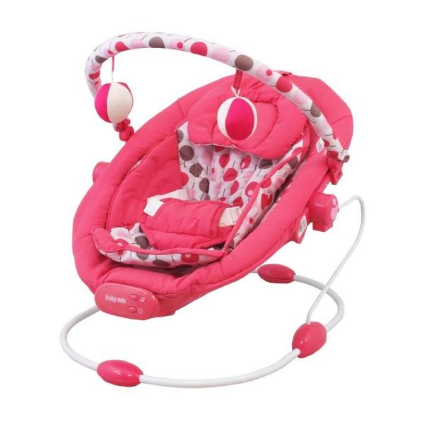 Lehátko pro miminka Baby Mix růžové do 9kg