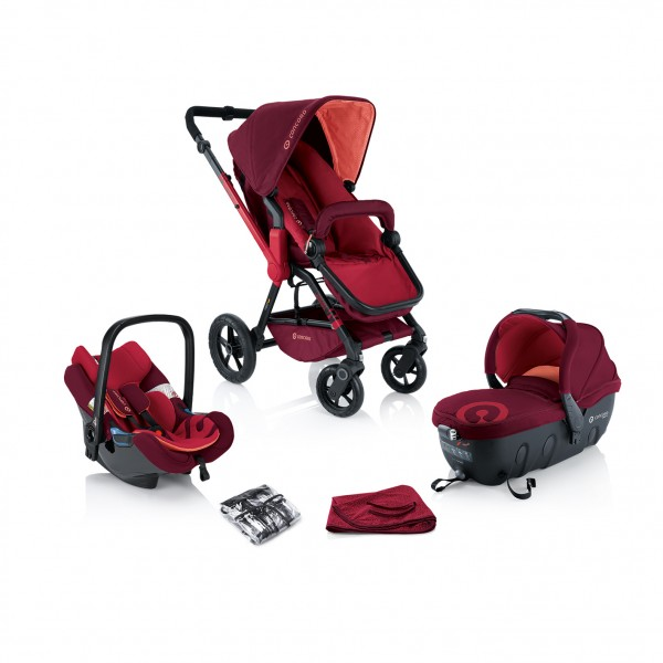 Travel Set WANDERER - Lava Red- Concord