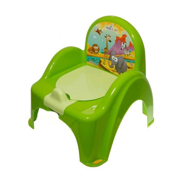 Dětský nočník s poklopem TEGA zelený
