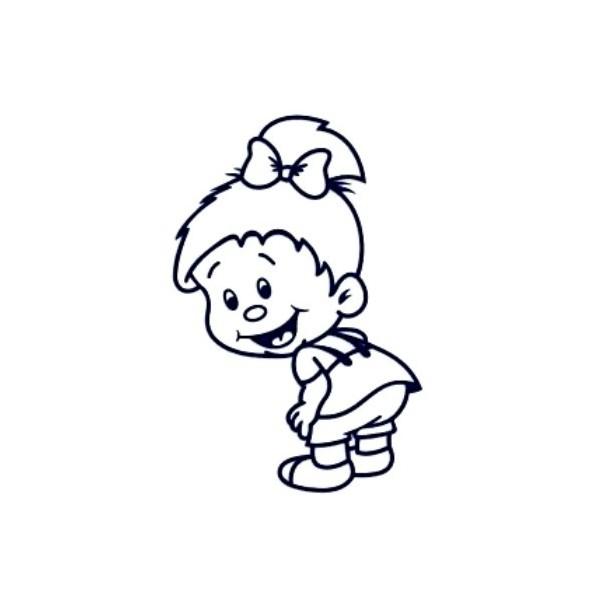 Samolepka na auto se jménem dítěte- holka 13