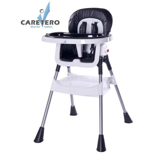 Jídelní židlička CARETERO Pop black