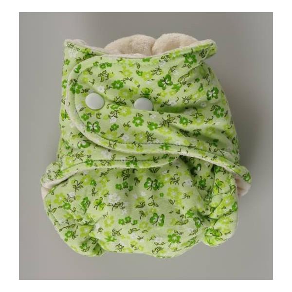 Novorozenecká bambusová plenka zelená- Kaarsgaren