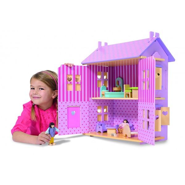Domeček pro panenky dřevěný Eichhorn