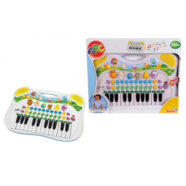 Multifunkční piano se zvířátky, 38x27cm Simba