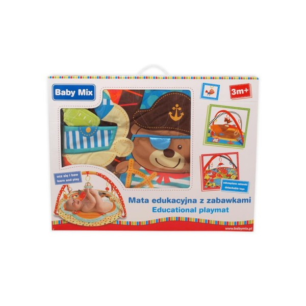 Hrací deka medvídek pirát Baby Mix
