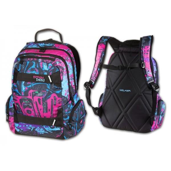 Studentský batoh Spray Day fialová Walker