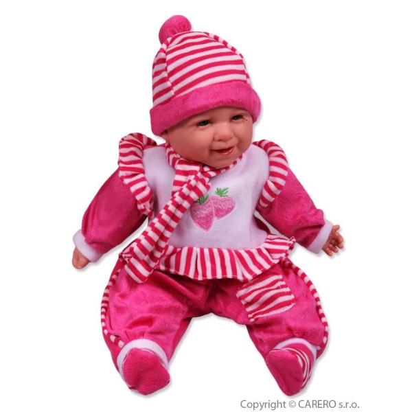 Mluvící a zpívající dětská panenka Baby Girl pruh