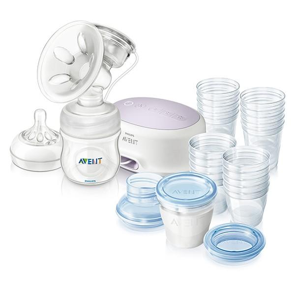 Odsávačka mateřského mléke Natural elekt. Avent+VIA zásobníky