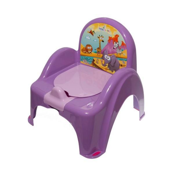 Dětský nočník s poklopem TEGA fialový