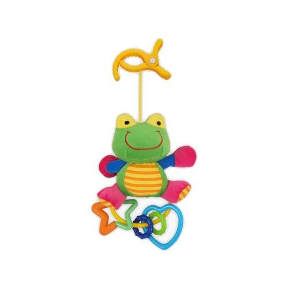 Plyšová žabka s chrastítkem Baby Mix