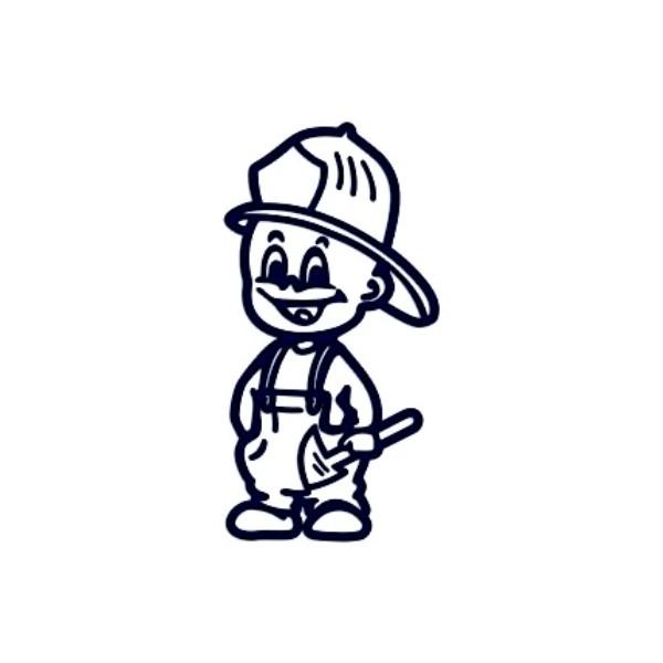 Samolepka na auto se jménem dítěte- kluk hasič