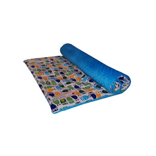 Dětská přikrývka/deka 75x100 cm Sovička tmavě modrá- TEGA