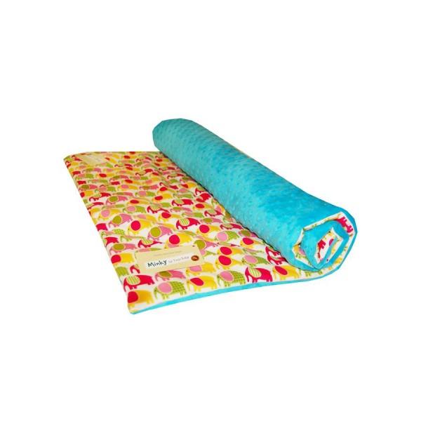 Dětská přikrývka/deka 75x100 cm Sloník modrá- TEGA