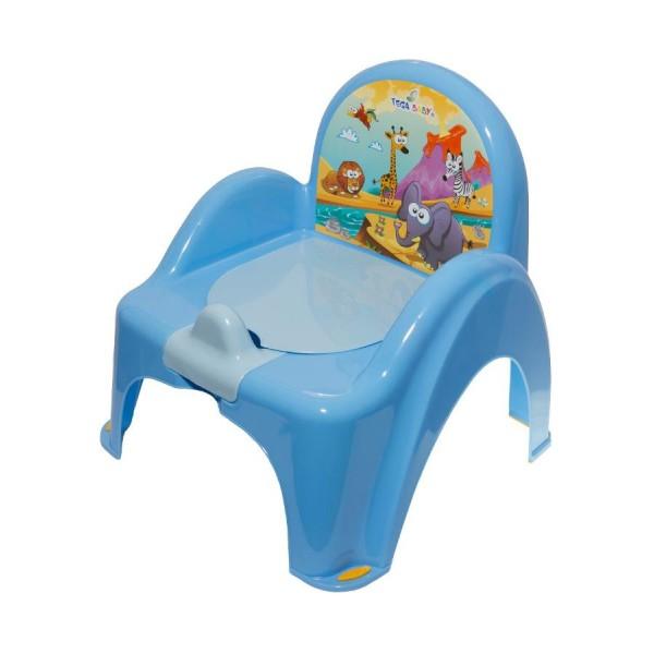 Dětský nočník s poklopem modrý safari- TEGA
