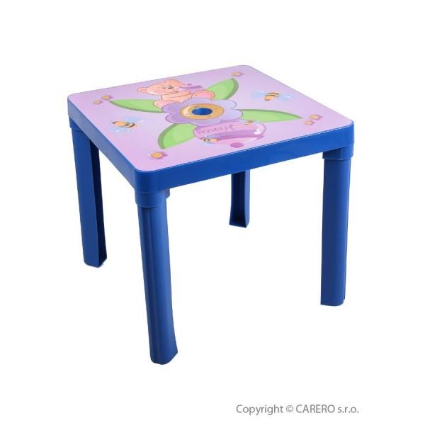 Dětský zahradní nábytek - Plastový stůl-modrý- STAR PLUS