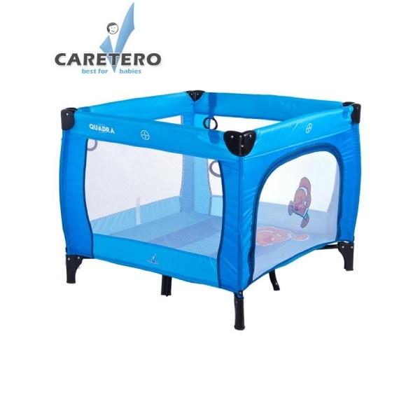 Dětská skládací ohrádka CARETERO Quadra blue- CARETERO