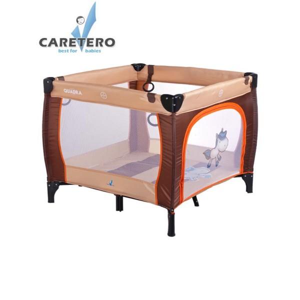 Dětská skládací ohrádka CARETERO Quadra brown- CARETERO