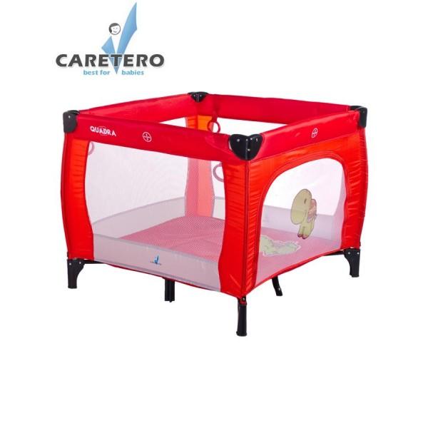 Dětská skládací ohrádka CARETERO Quadra red- CARETERO