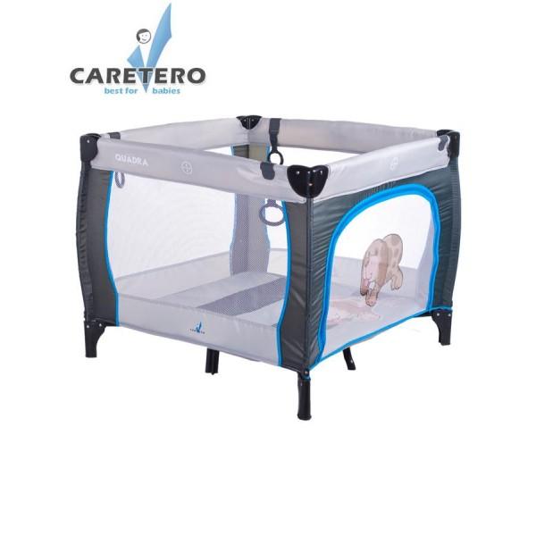 Dětská skládací ohrádka CARETERO Quadra grey- CARETERO