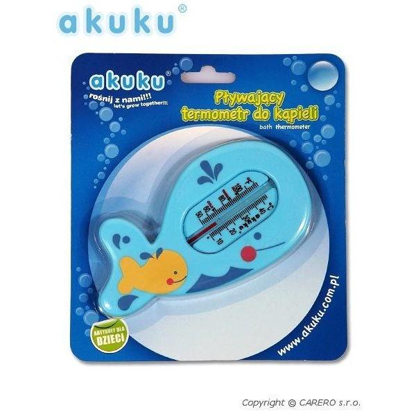 Dětský teploměr do vaničky Rybička Akuku- modrý