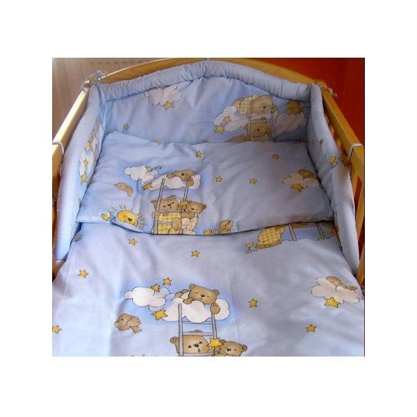 2-dílné ložní povlečení 100x135 cm modré- NEW BABY