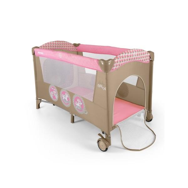 Cestovní postýlka Milly Mally Mirage pink toys