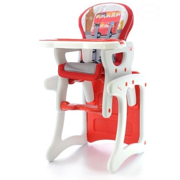 Jídelní stoleček - červený autobus