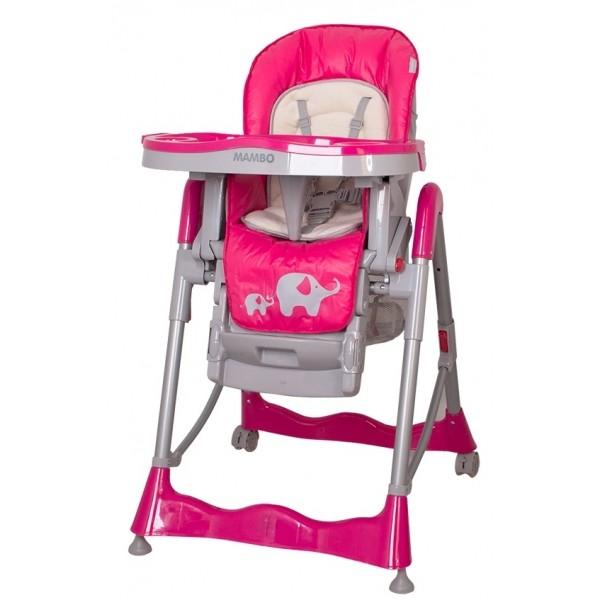 Jídelní židlička COTO BABY Mambo Hot Pink - SLONÍCI