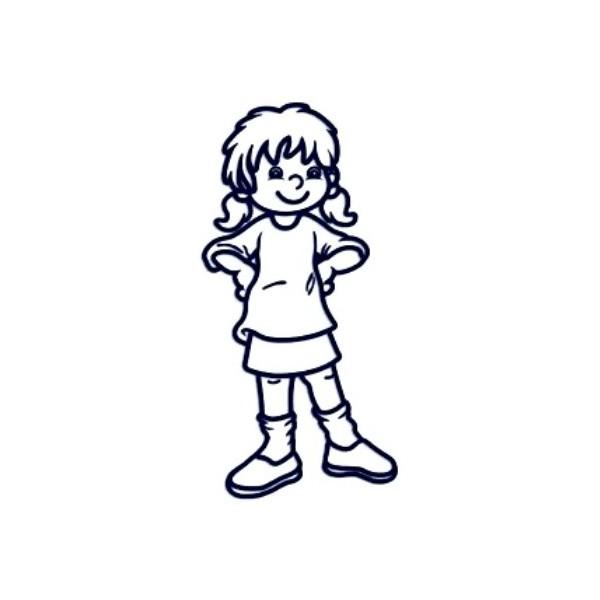 Samolepka na auto se jménem dítěte - holka 6 až 12let