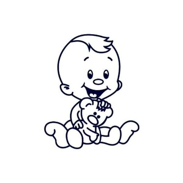 Samolepka na auto se jménem dítěte - kluk 19