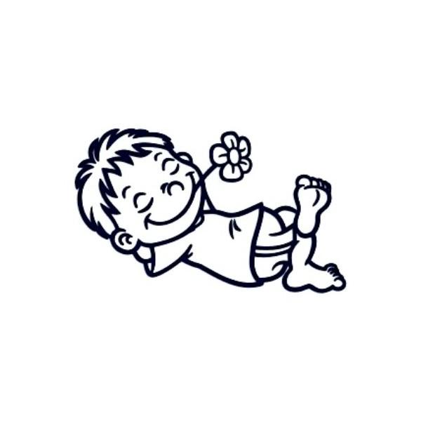 Samolepka na auto se jménem dítěte - kluk leháro
