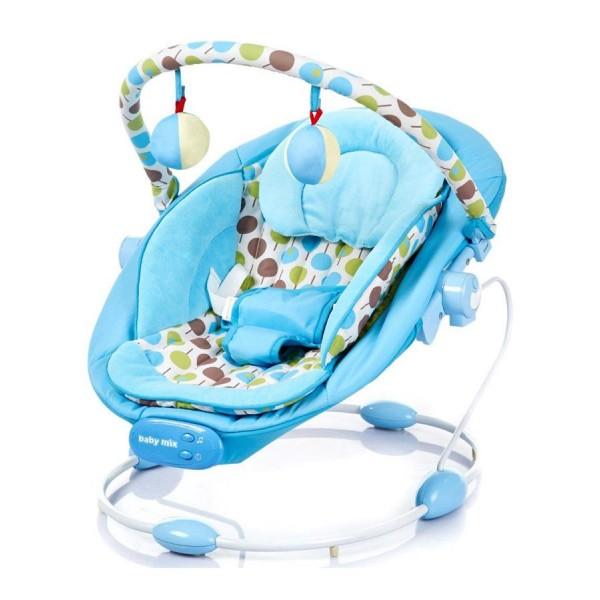 Lehátko pro miminka Baby Mix modré do 9kg- rozbalené zboží