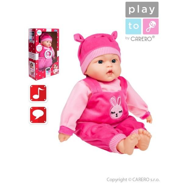 Mluvící a zpívající dětská panenka PlayTo Terezka 46 cm- PLAYTO