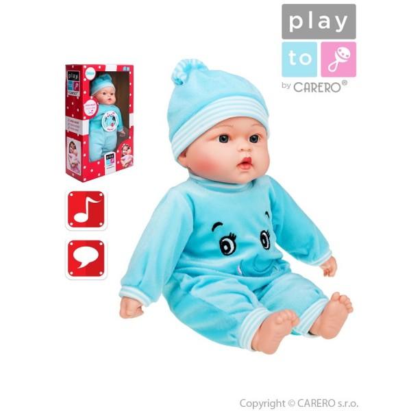 Mluvící a zpívající dětská panenka PlayTo Maruška 46 cm- PLAYTO