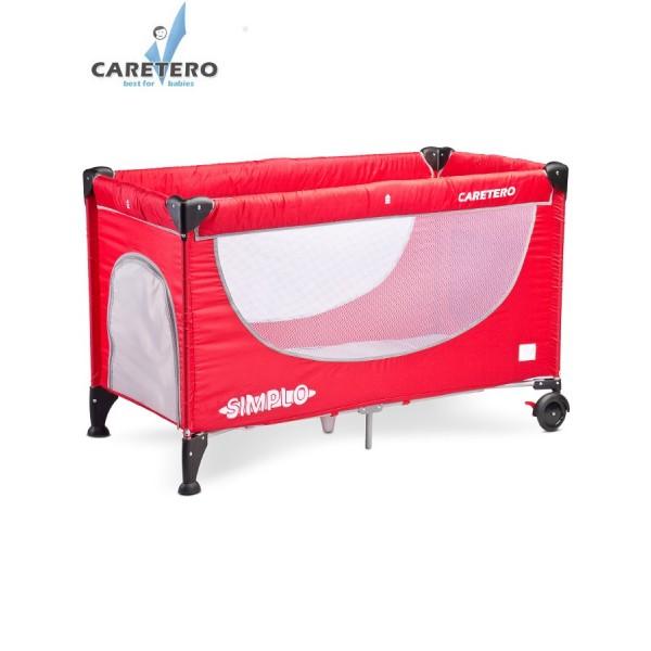 Cestovní postýlka CARETERO Simplo red
